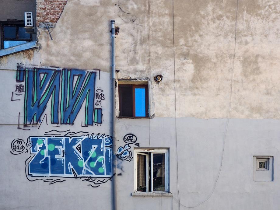 Desene la geam